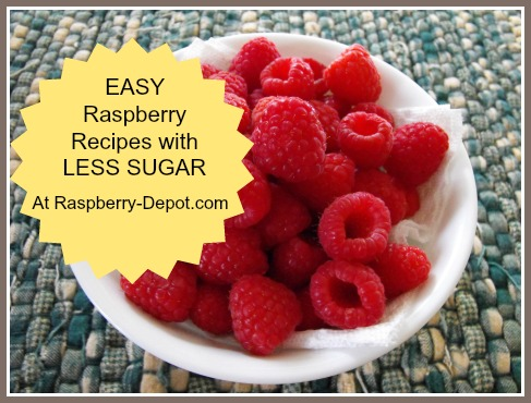Raspberry Recipes with Less Sugar /Sugar-free for Dieters and Diabetics