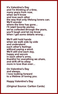 Poem or Verse for Wife or Husband for Valentine's Day Card