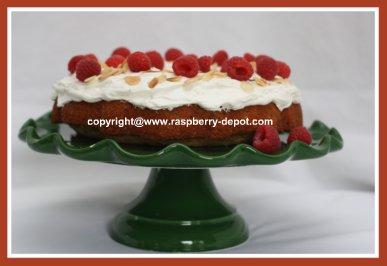 Raspberry Cake - Almond Cake with Fresh Rasbperries