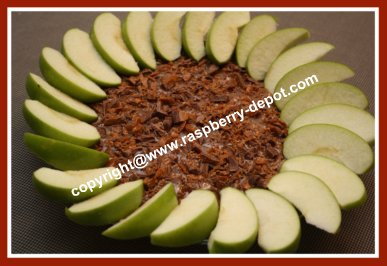 Best Ever Apple Dip with Cream Cheese Caramel Skor