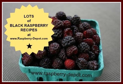 Ideas for Recipes for Black Raspberries, Wild Black Raspberries and Black Caps