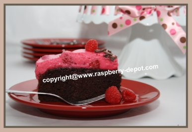 Chocolate Raspberry Cake Recipe Image