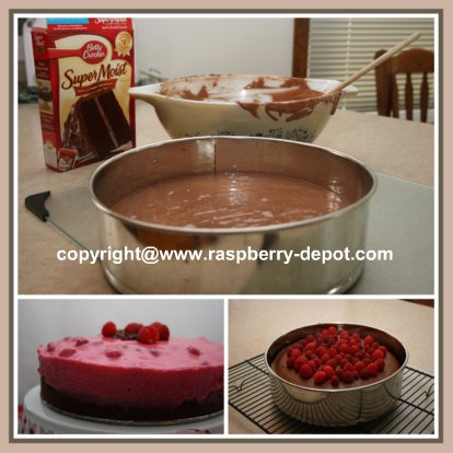 Making Raspberry Chocolate Cake Recipe
