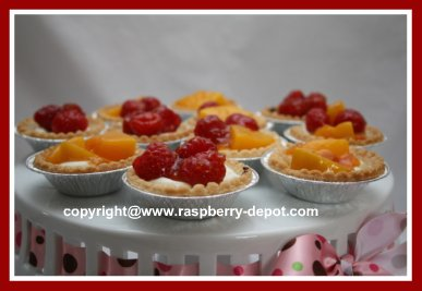 Homemade Fruit Tarts Recipe with Cream Cheese Filling