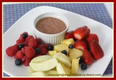 Homemade Chocolate Fruit Dip for Fruit Tray /Platter