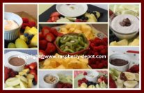 New Year's Recipes Fruit Tray and Dip