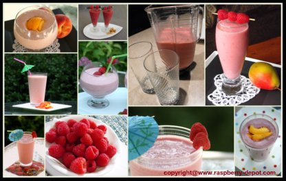 Pictures of Raspberry Smoothies