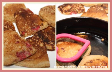 Making Heart Shaped Pancakes