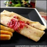 Thanksgiving Recipe Dutch Pancakes with Raspberries