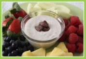Fruit Dip and Fruit Tray Snack for Easter