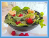 Salad For Father's Day - Mixed Greens and Raspberries