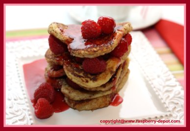 Valentine's Day Breakfast Idea French Toast in the Shape of a Heart
