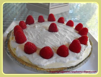 Fresh Lemon Raspberry Cream Pie Homemade Pie Recipe