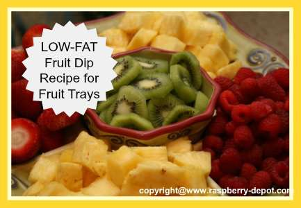 fruit tray healthy dip for fruit