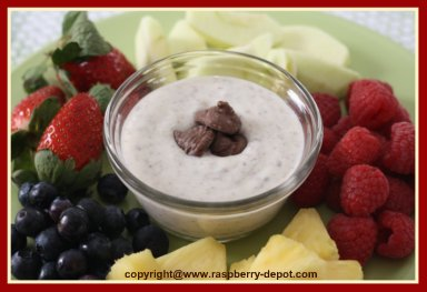 Fruit Dip Recipe made with Sour Cream or Greek Yogurt and Macaroons
