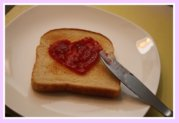 Jam on Toast for Mother's Day Breakfast