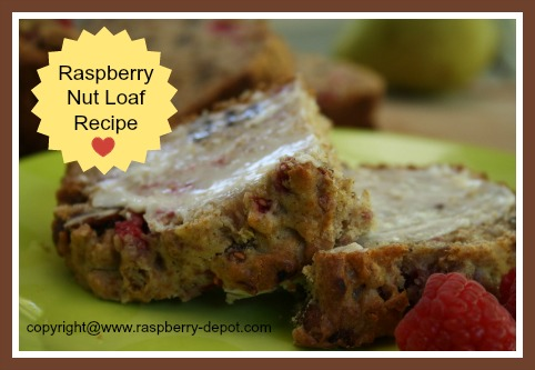 Homemade Raspberry Nut Loaf - a recipe to make with nuts, raspberries and pears
