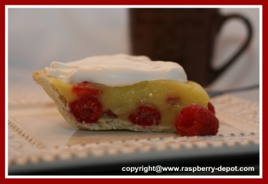 Picture of Homemade Strawberry Raspberry pudding pie