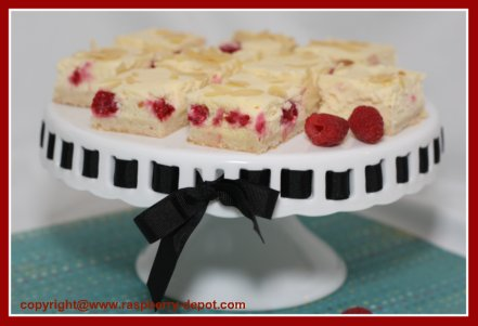 Homemade Raspberry Cream Cheese Squares /Bars