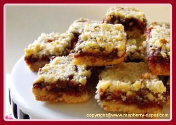 Red Raspberry Squares Recipe - Baking with Raspberry Jam
