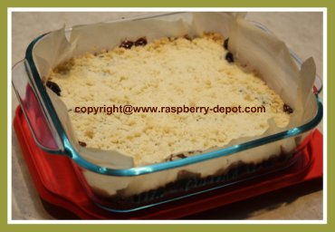 Bars Recipe in 8 inch pan using Raspberry Jam