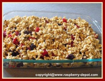 Black and Red Raspberry Recipe - Raspberry Crumble