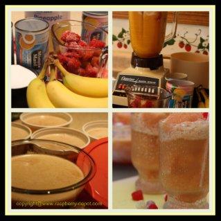Making Raspberry Slush Frozen Drink Recipe