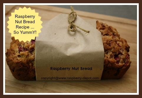 Raspberry Loaf with nuts, pears, fresh raspberries