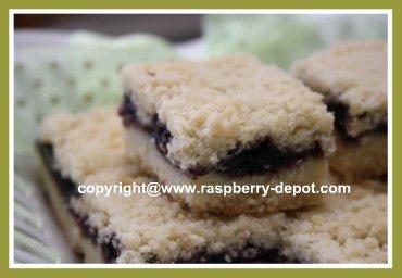 Raspberry Bars Recipe Made with Raspberry Jam