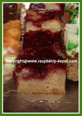 Raspberry Bars made with Raspberry Pie Filling or Jam