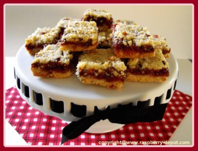 Red Raspberry Squares Recipe Christmas Baking