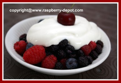 Easiest and Quickest Fruit Dessert Recipe with Fruit and Sour Cream