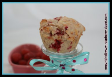 Image of Homemade Strawberry Raspberry Muffins Recipe made with Fresh OR Frozen Berries