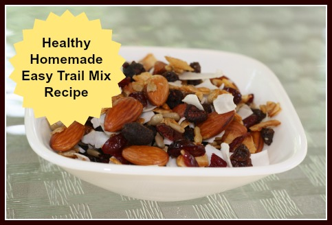 Healthy Homemade Trail Mix including Dried Fruit