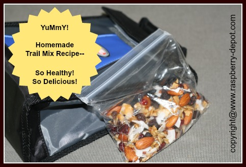 Easy Recipe for a Healthy Trail Mix for Kid's lunch snack