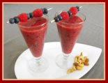 Raspberry Smoothie Drinks for Valentine's Day