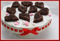 Raspberry Brownies for Valentine