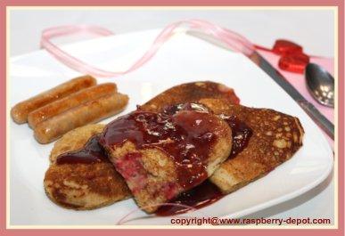 Valentine's Day Breakfast or Brunch - Heart Shape Pancakes