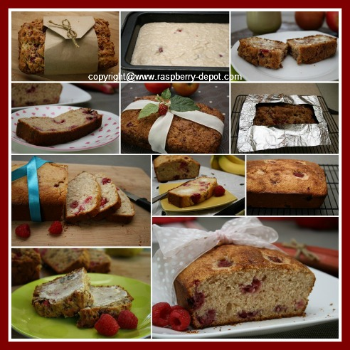 Collage of Raspberry Bread Recipes Quick Breads with No Yeast