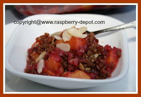 Easy Peach Raspberry Dessert Recipe Idea