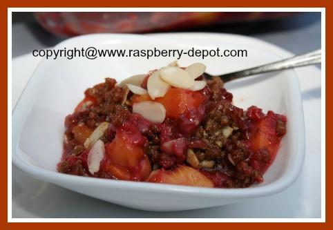 Easy Peach Raspberry Dessert Recipe Idea