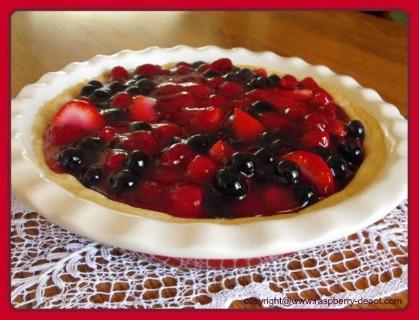 Raspberry Pie Recipe Made with Fresh Raspberries