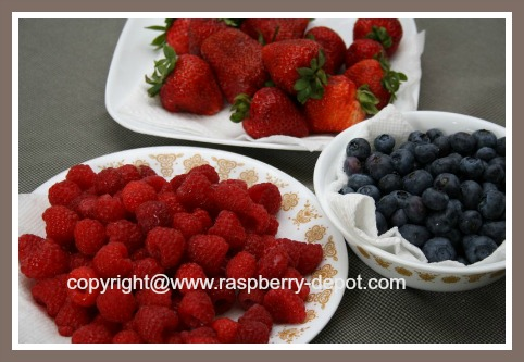 Fresh Mixed Berries - Strawberries, Raspberries, and Blueberries for Pie Making
