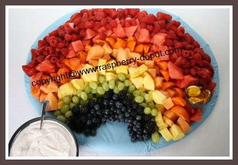 Rainbow Fruit Tray Recipe - Perfect Idea for a Baby Shower or a ...