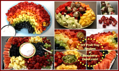 Homemade Fresh Fruit Trays DIY