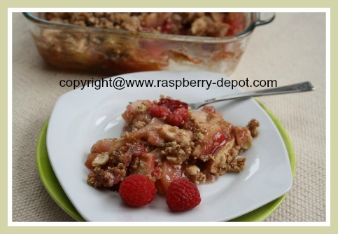 Gluten Free / Wheat Free Apple and Raspberries Dessert Idea