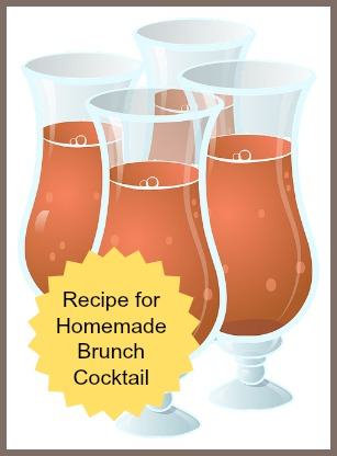 Homemade Brunch Cocktail Recipe for Christmas or New Year's Day Morning