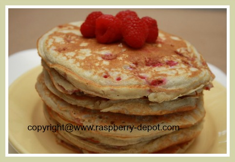 Homemade Raspberry Buttermilk Pancakes