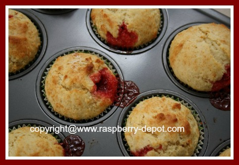Make Homemade Raspberry Jam Muffins - Muffins with Jam Centers