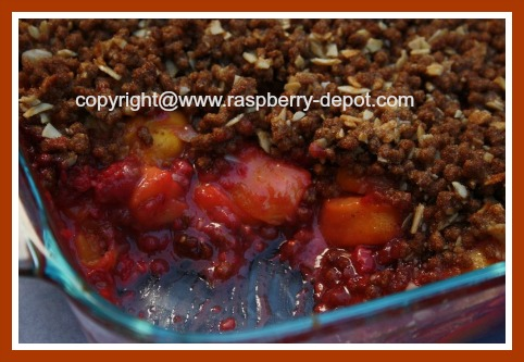 How to Make a Raspberry Peach Crisp without Oatmeal Topping